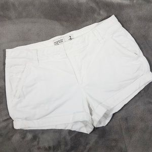 Abercrombie White Low Rise Shorts